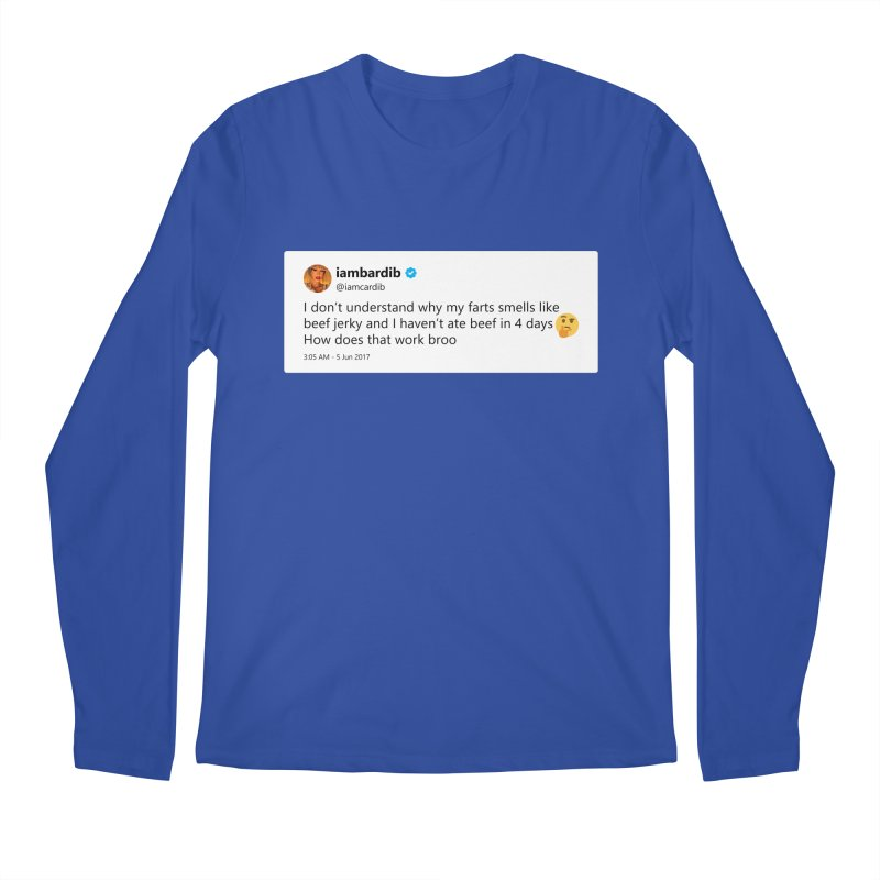 "TweetSHIRT/""Cardi Beef Jerky"" Men's Regular Longsleeve T-Shirt by Josh Sabarra's Shop"