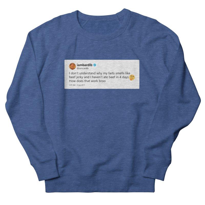 "TweetSHIRT/""Cardi Beef Jerky"" Women's French Terry Sweatshirt by Josh Sabarra's Shop"
