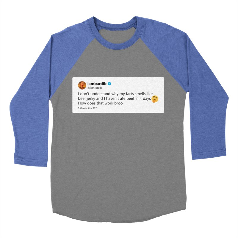 "TweetSHIRT/""Cardi Beef Jerky"" Women's Baseball Triblend Longsleeve T-Shirt by Josh Sabarra's Shop"