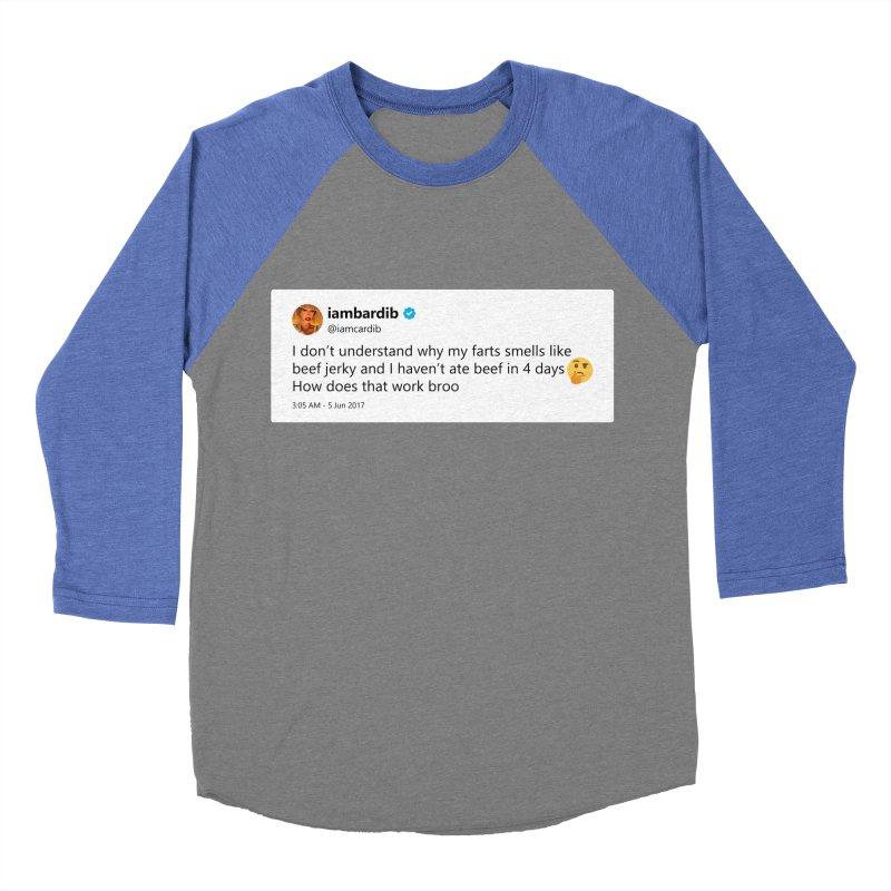 "TweetSHIRT/""Cardi Beef Jerky"" Men's Baseball Triblend Longsleeve T-Shirt by Josh Sabarra's Shop"
