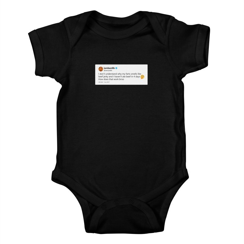 "SIDE EYE/""Cardi Beef Jerky"" TweetSHIRT Kids Baby Bodysuit by Josh Sabarra's Shop"