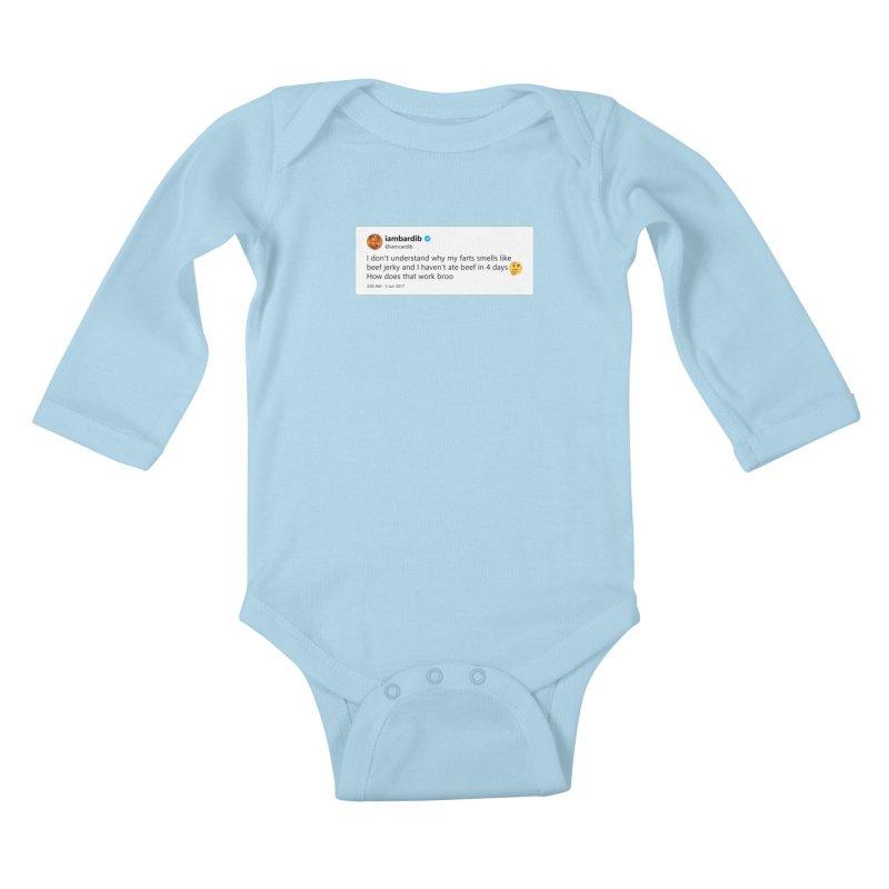 "SIDE EYE/""Cardi Beef Jerky"" TweetSHIRT Kids Baby Longsleeve Bodysuit by Josh Sabarra's Shop"