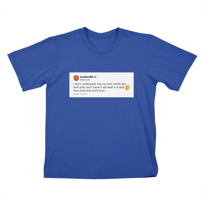 "SIDE EYE/""Cardi Beef Jerky"" TweetSHIRT Kids T-Shirt by Josh Sabarra's Shop"