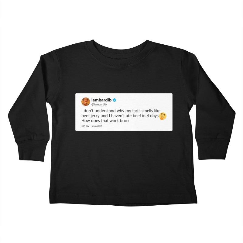 "TweetSHIRT/""Cardi Beef Jerky"" Kids Toddler Longsleeve T-Shirt by Josh Sabarra's Shop"