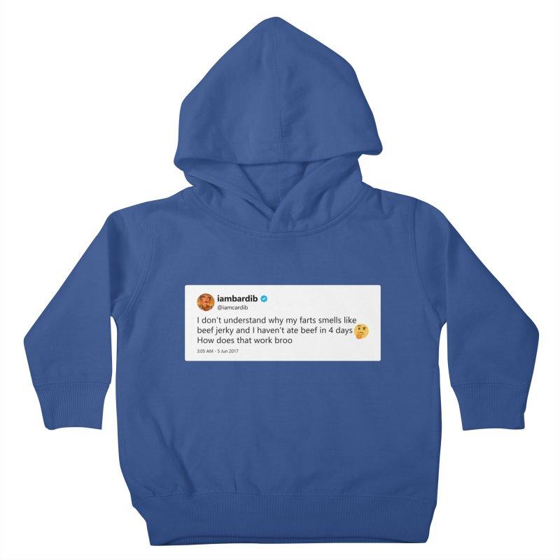 """SIDE EYE/""""Cardi Beef Jerky"""" TweetSHIRT Kids Toddler Pullover Hoody by Josh Sabarra's Shop"""
