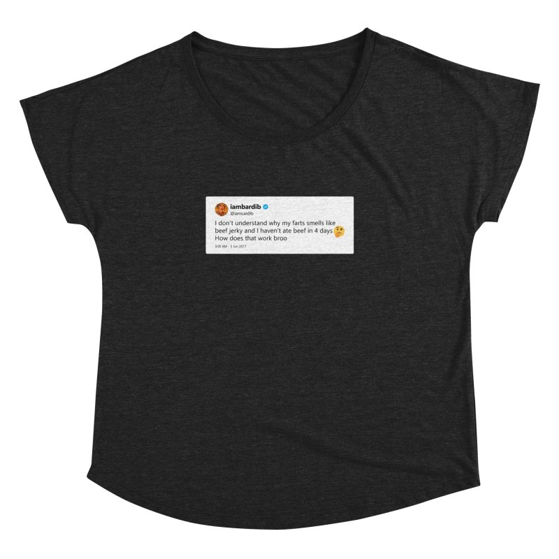 "TweetSHIRT/""Cardi Beef Jerky"" Women's Dolman Scoop Neck by Josh Sabarra's Shop"