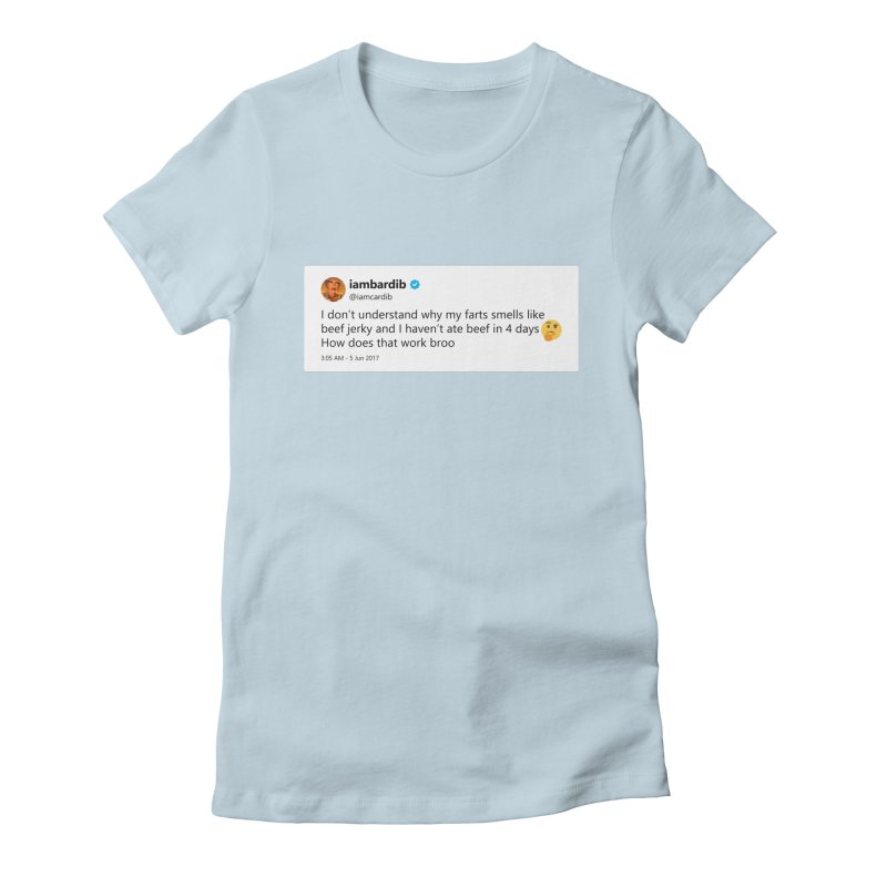 "TweetSHIRT/""Cardi Beef Jerky"" Women's Fitted T-Shirt by Josh Sabarra's Shop"