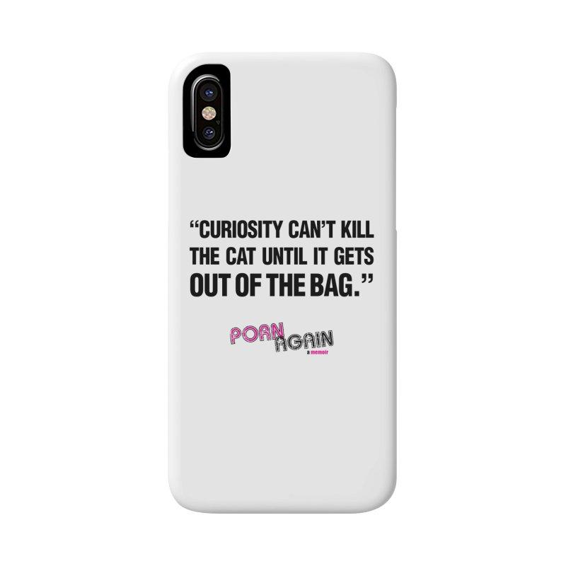 "PORN AGAIN/""Curiosity Killed The Cat"" (Black) Accessories Phone Case by Josh Sabarra's Shop"