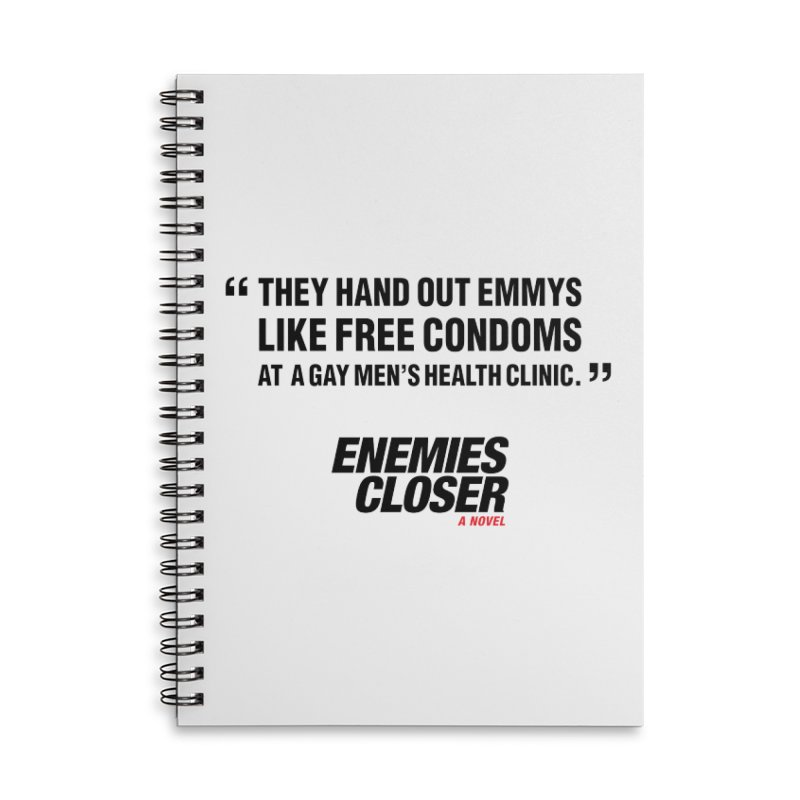 "ENEMIES CLOSER/""Emmys"" (Black) Accessories Lined Spiral Notebook by Josh Sabarra's Shop"