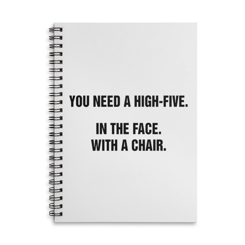 "SIDE EYE/""High-Five"" (Black) Accessories Lined Spiral Notebook by Josh Sabarra's Shop"