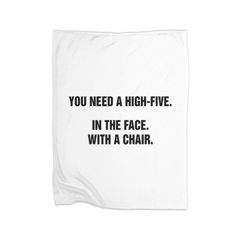 "SIDE EYE/""High-Five"" (Black) Home Fleece Blanket Blanket by Josh Sabarra's Shop"