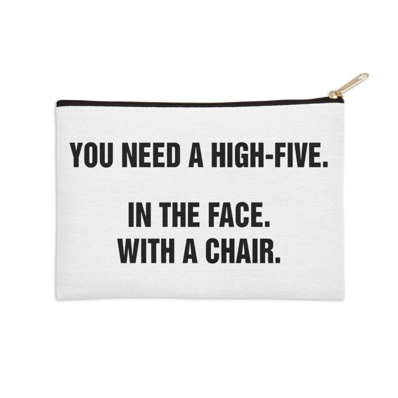 "SIDE EYE/""High-Five"" (Black) Accessories Zip Pouch by Josh Sabarra's Shop"