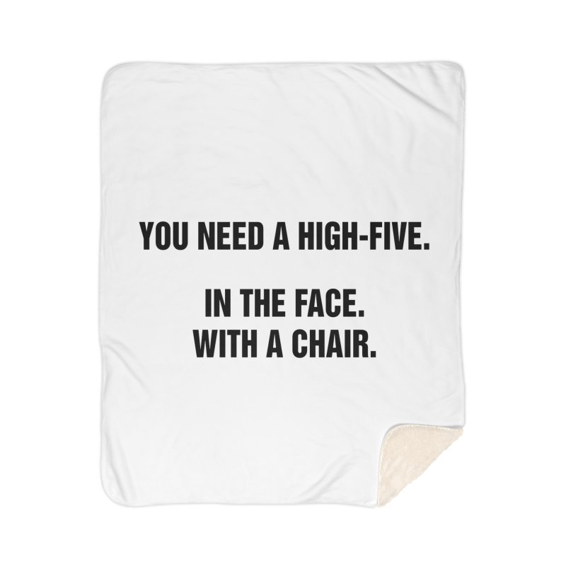 "SIDE EYE/""High-Five"" (Black) Home Blanket by Josh Sabarra's Shop"