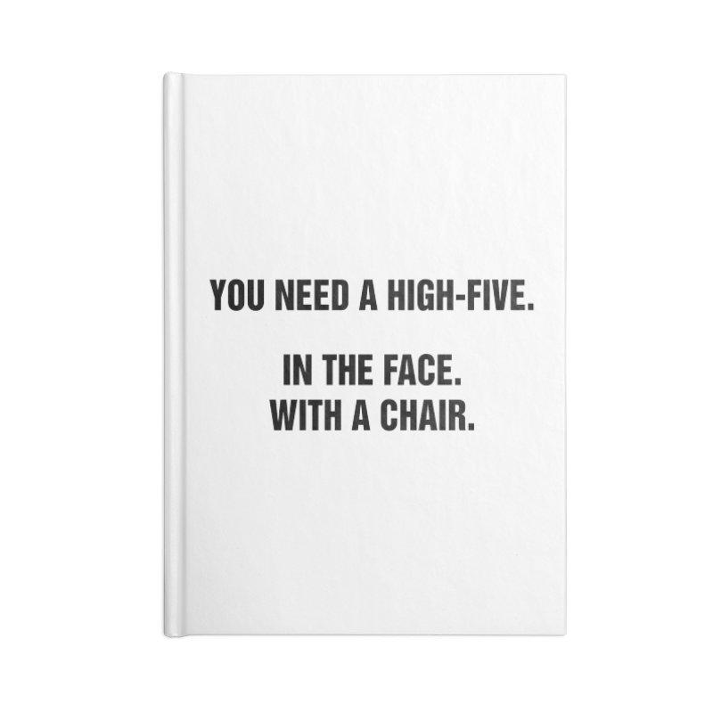 "SIDE EYE/""High-Five"" (Black) Accessories Blank Journal Notebook by Josh Sabarra's Shop"