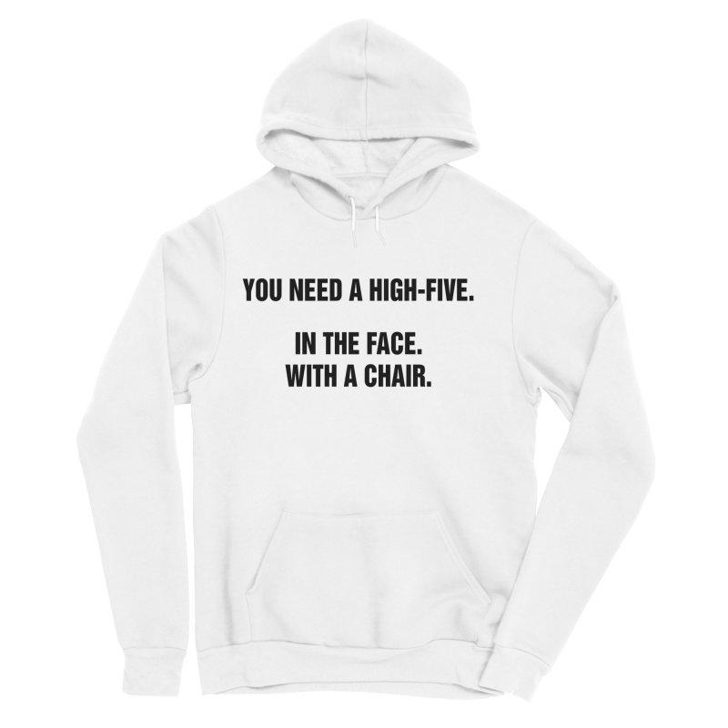 "SIDE EYE/""High-Five"" (Black) Men's Pullover Hoody by Josh Sabarra's Shop"