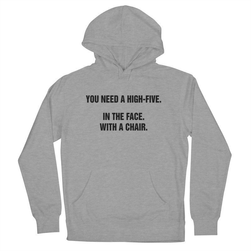 "SIDE EYE/""High-Five"" (Black) Women's French Terry Pullover Hoody by Josh Sabarra's Shop"