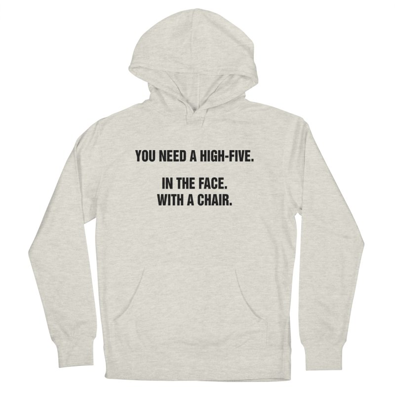 """SIDE EYE/""""High-Five"""" (Black) Men's French Terry Pullover Hoody by Josh Sabarra's Shop"""