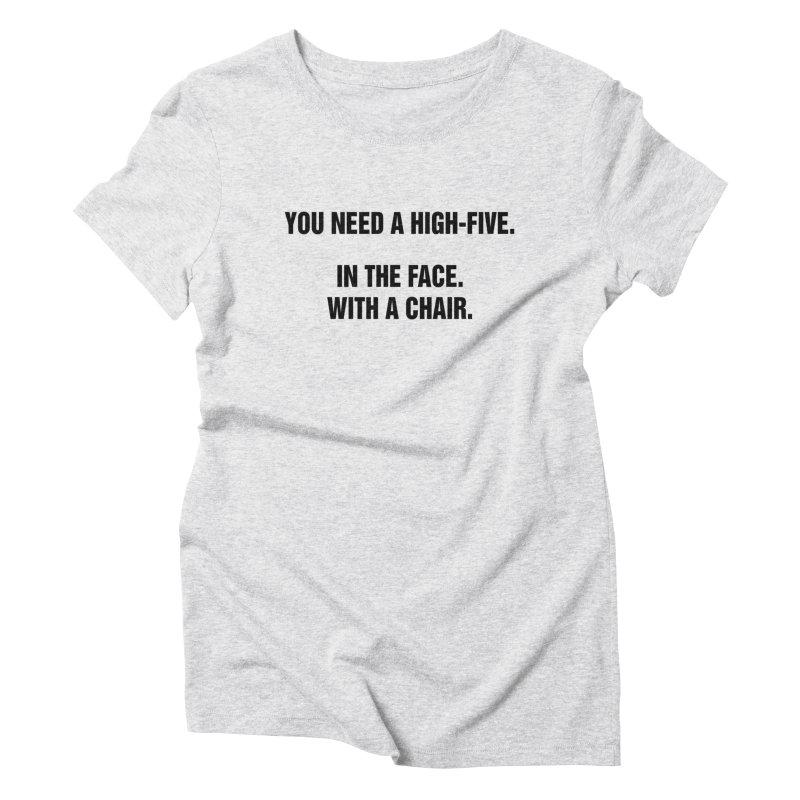 "SIDE EYE/""High-Five"" (Black) Women's Triblend T-Shirt by Josh Sabarra's Shop"