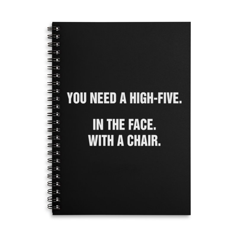 "SIDE EYE/""High-Five"" (White) Accessories Lined Spiral Notebook by Josh Sabarra's Shop"