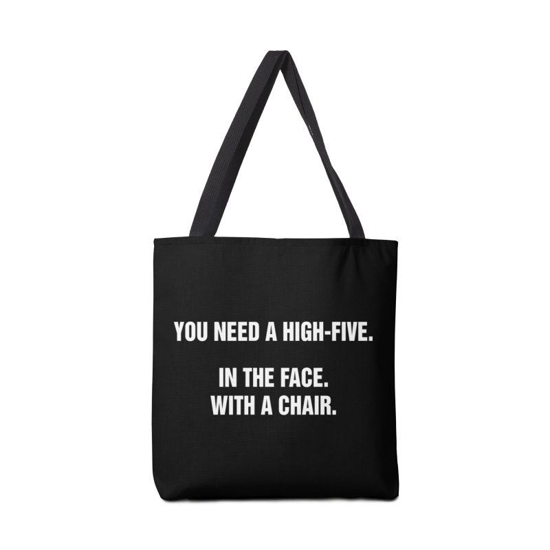 "SIDE EYE/""High-Five"" (White) Accessories Tote Bag Bag by Josh Sabarra's Shop"