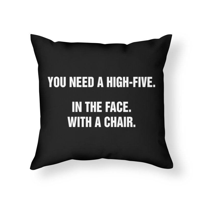 "SIDE EYE/""High-Five"" (White) Home Throw Pillow by Josh Sabarra's Shop"
