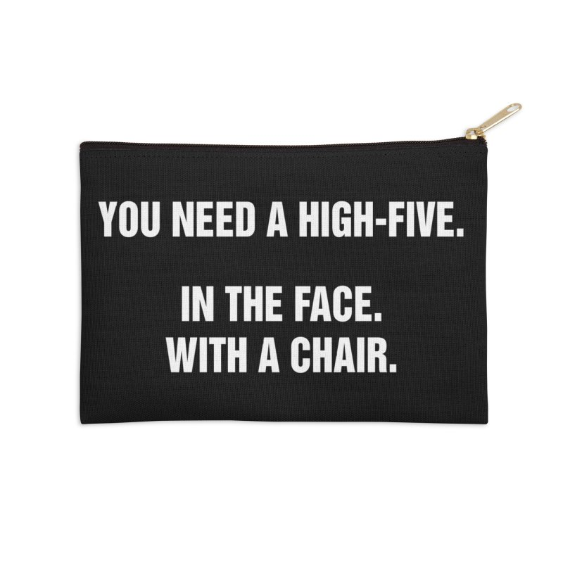 """SIDE EYE/""""High-Five"""" (White) Accessories Zip Pouch by Josh Sabarra's Shop"""