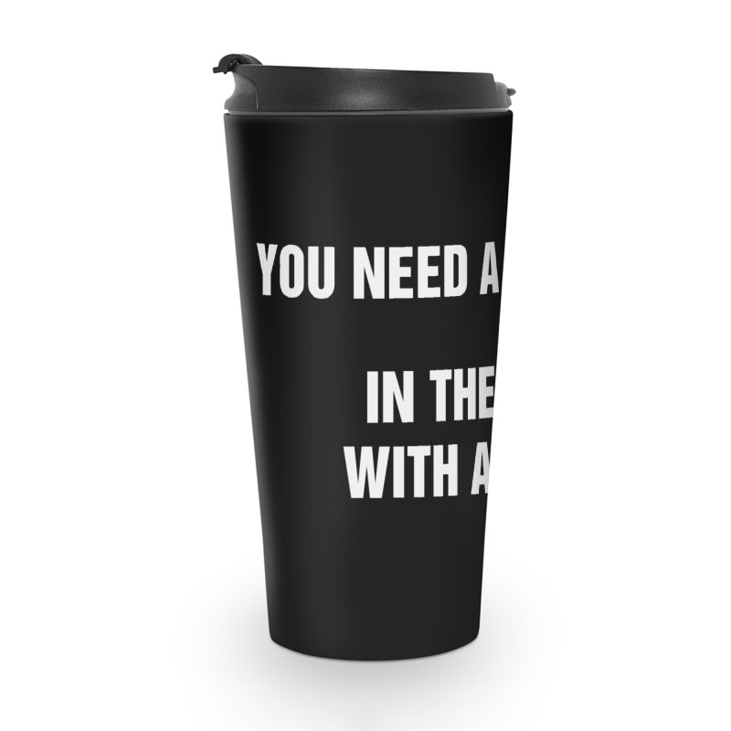 "SIDE EYE/""High-Five"" (White) Accessories Travel Mug by Josh Sabarra's Shop"