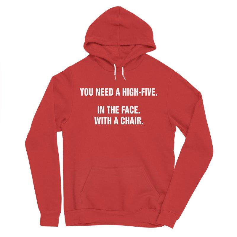 "SIDE EYE/""High-Five"" (White) Men's Pullover Hoody by Josh Sabarra's Shop"