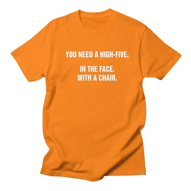 "SIDE EYE/""High-Five"" (White) Men's Regular T-Shirt by Josh Sabarra's Shop"