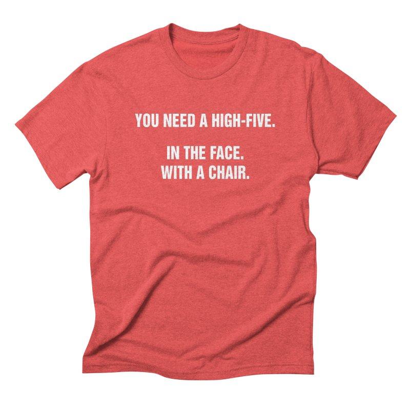 "SIDE EYE/""High-Five"" (White) Men's Triblend T-Shirt by Josh Sabarra's Shop"