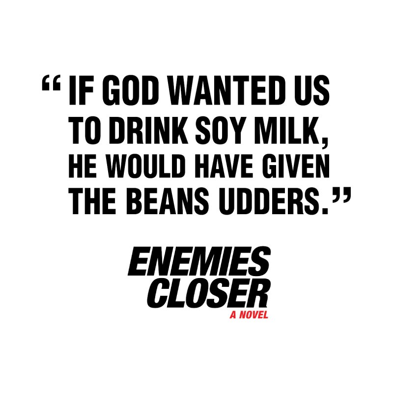 "ENEMIES CLOSER/""Soy Milk"" (Black) Men's Pullover Hoody by Josh Sabarra's Shop"