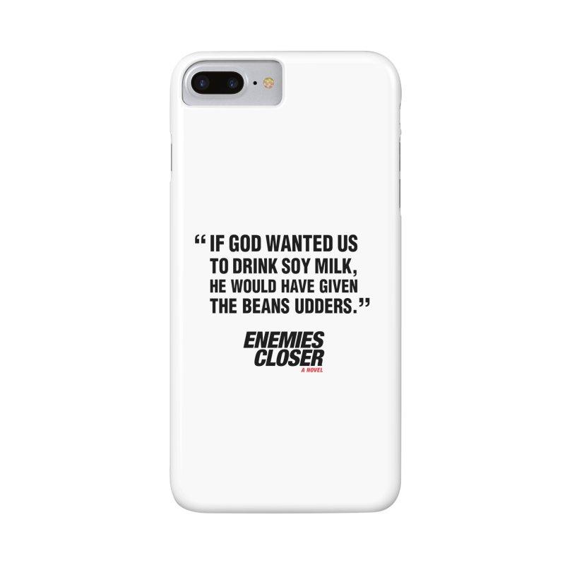 "ENEMIES CLOSER/""Soy Milk"" (Black) Accessories Phone Case by Josh Sabarra's Shop"