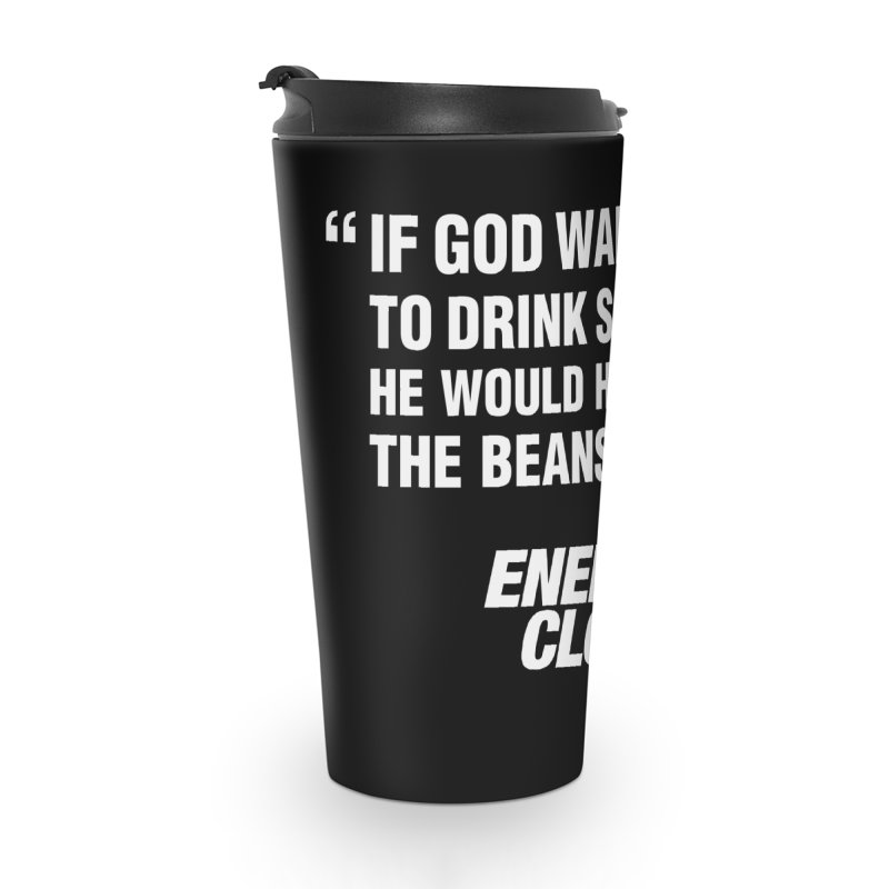 "ENEMIES CLOSER/""Soy Milk"" (White) Accessories Travel Mug by Josh Sabarra's Shop"