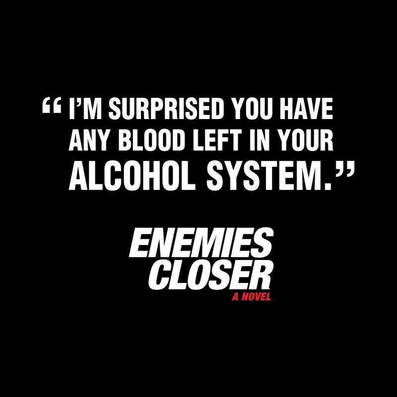 "ENEMIES CLOSER/""Alcohol System"" (White) Men's Pullover Hoody by Josh Sabarra's Shop"