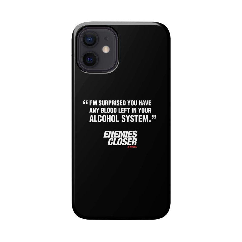 "ENEMIES CLOSER/""Alcohol System"" (White) Accessories Phone Case by Josh Sabarra's Shop"