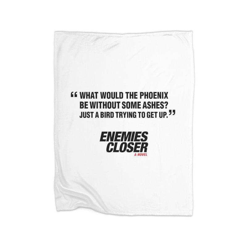 """ENEMIES CLOSER/""""Phoenix"""" (Black) Home Fleece Blanket Blanket by Josh Sabarra's Shop"""
