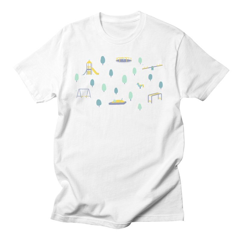 Small Moments - Playground Men's T-Shirt by Jovial Crafts Apparel