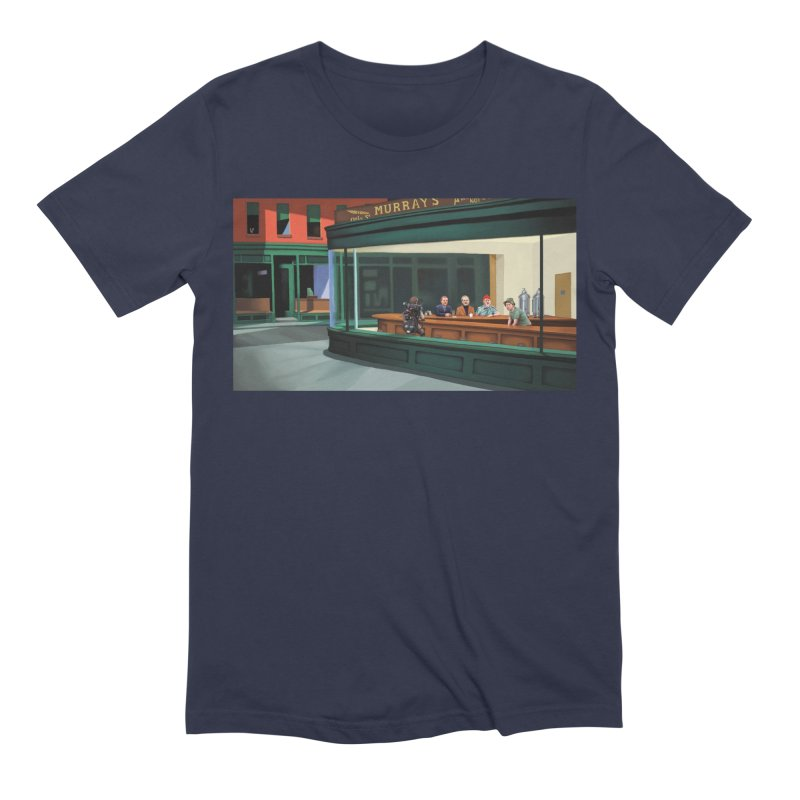 Murray's Nighthawks Men's Extra Soft T-Shirt by JuiceOne's Artist Shop