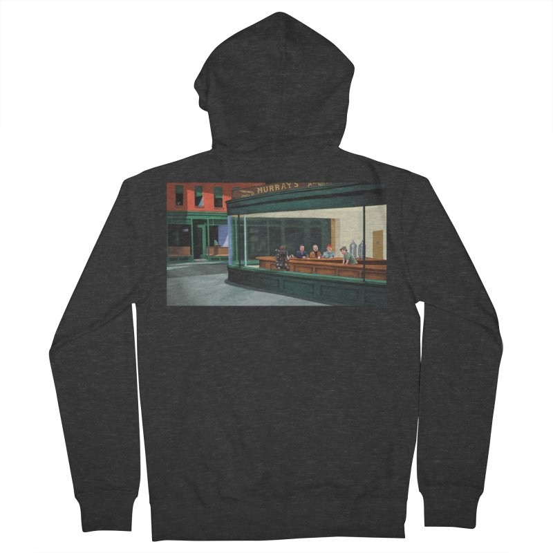 Murray's Nighthawks Women's French Terry Zip-Up Hoody by JuiceOne's Artist Shop