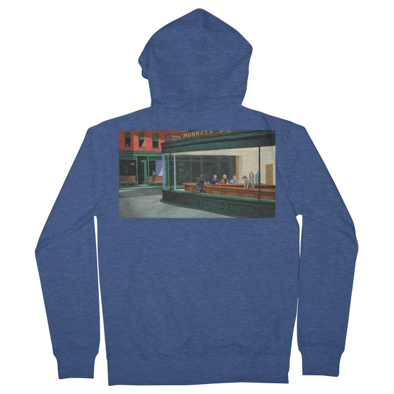 Murray's Nighthawks Men's Zip-Up Hoody by JuiceOne's Artist Shop