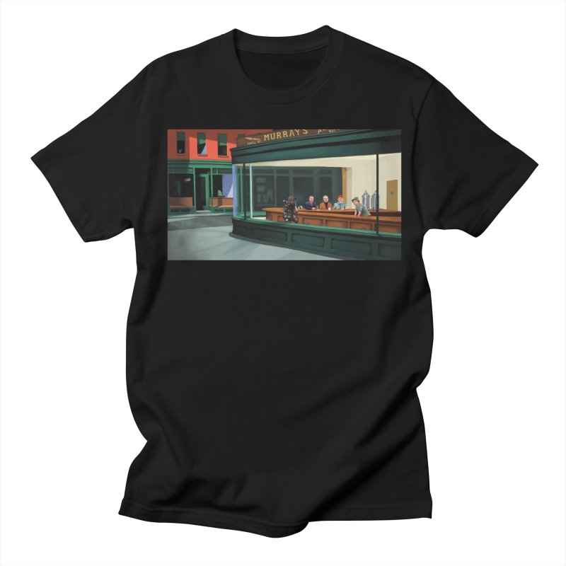 Murray's Nighthawks Men's Regular T-Shirt by JuiceOne's Artist Shop