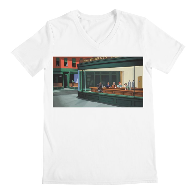 Murray's Nighthawks Men's V-Neck by JuiceOne's Artist Shop