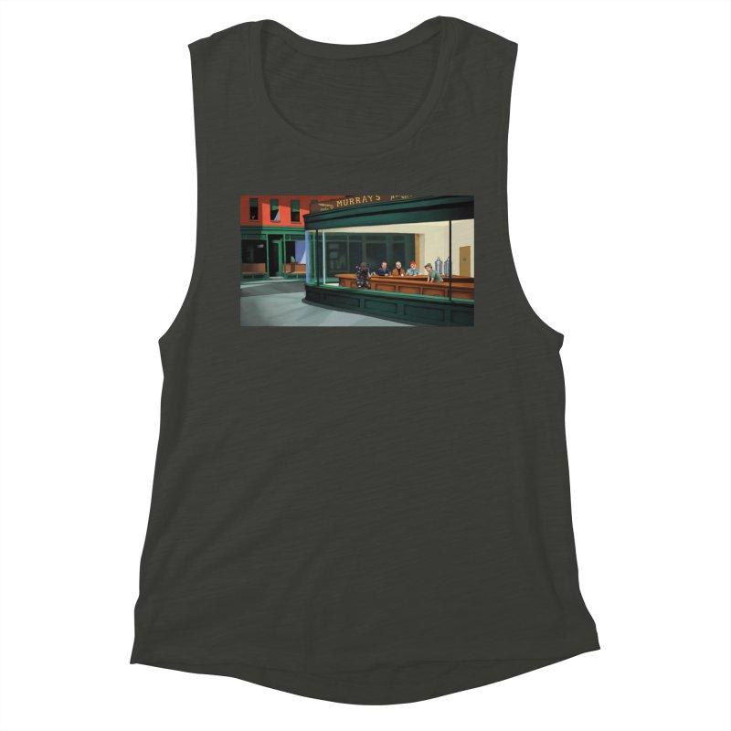 Murray's Nighthawks Women's Muscle Tank by JuiceOne's Artist Shop