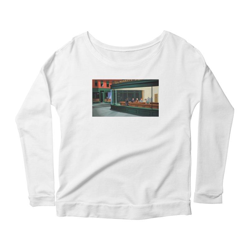 Murray's Nighthawks Women's Scoop Neck Longsleeve T-Shirt by JuiceOne's Artist Shop
