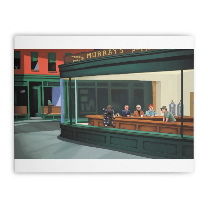 Murray's Nighthawks Home Stretched Canvas by JuiceOne's Artist Shop