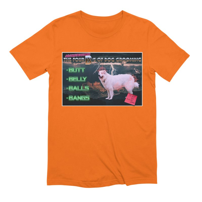 The 4 Bs of Dog Grooming Men's Extra Soft T-Shirt by JuiceOne's Artist Shop