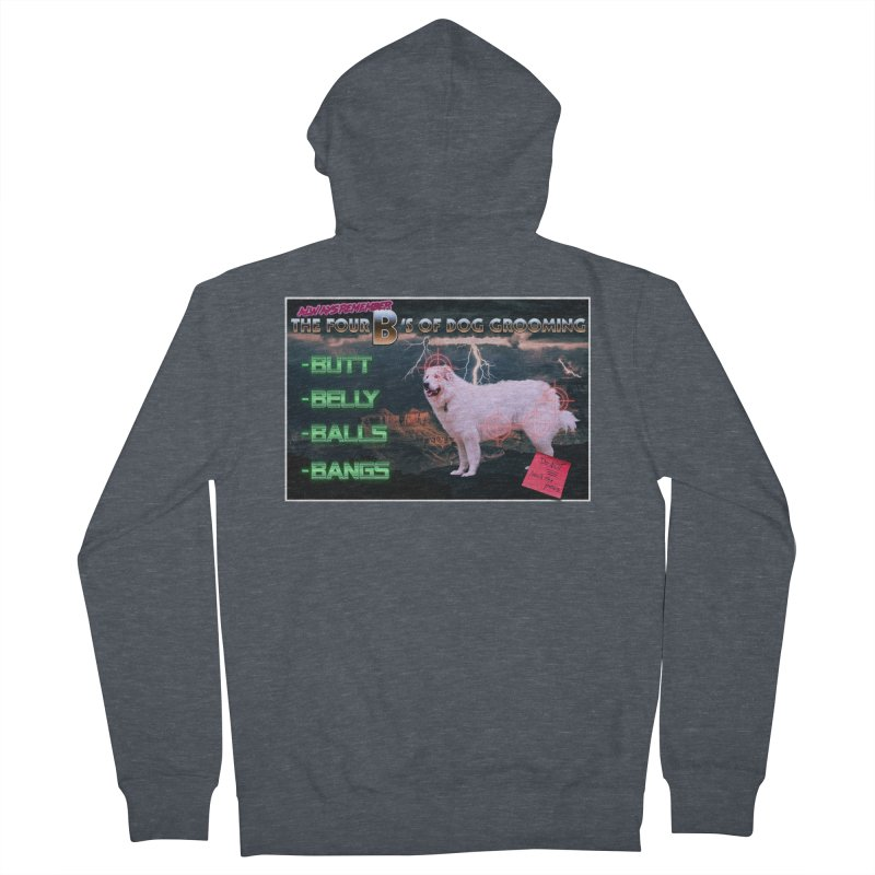 The 4 Bs of Dog Grooming Men's French Terry Zip-Up Hoody by JuiceOne's Artist Shop