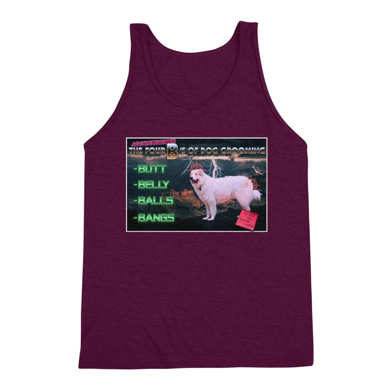 The 4 Bs of Dog Grooming Men's Triblend Tank by JuiceOne's Artist Shop