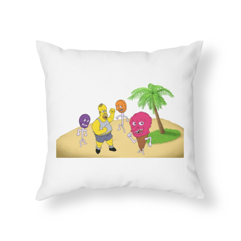 Sugar Sugar Home Throw Pillow by JuiceOne's Artist Shop