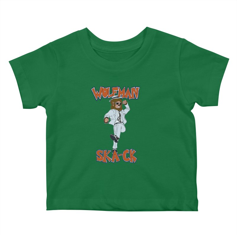 Wolfman Ska-ck Kids Baby T-Shirt by JuiceOne's Artist Shop